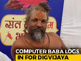"Video : ""Computer Baba"" Runs <i>Maha Yagna</i> Algorithm For Digvijaya Singh's Success"