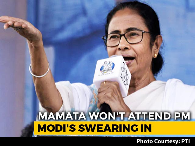 "Video : ""Please Excuse Me"": Mamata Banerjee's Sharp RSVP To PM Modi's Oath Invite"
