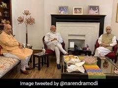 प्रचंड बहुमत मिलने के बाद पीएम मोदी ने लिया आडवाणी और मुरली मनोहर जोशी से आशीर्वाद, शाह भी रहे साथ