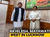 "Video : Prepping For ""Next Step"", Says Akhilesh Yadav After Meeting Mayawati"