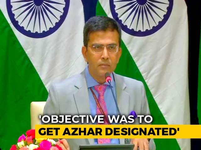 "Video : ""Masood Azhar's UN Ban Need Not Be Biodata"": Centre On No Pulwama Mention"