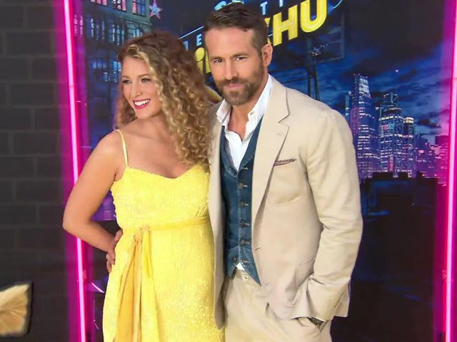 Yellow Carpet Action Of Detective Pikachu Starring Ryan Reynolds