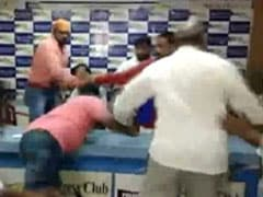 Dalit Body Chief Attacked During Press Conference In Hyderabad