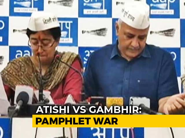 Video : As BJP-AAP Spar, Mystery Deepens On Where Atishi Pamphlets Came From