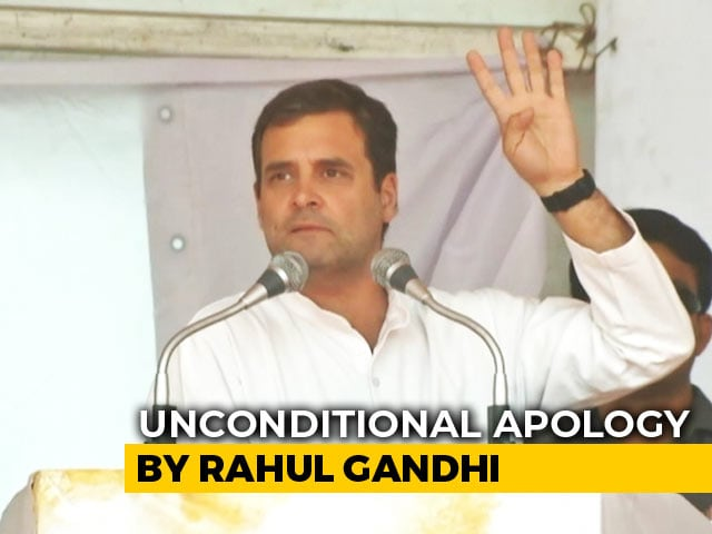 "Video : Rahul Gandhi's ""Unconditional Apology"" To Top Court For Misquoting It"