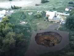 Watch: Giant Sinkhole, Deep As Multi-Storey Building, Opens Up In Russia