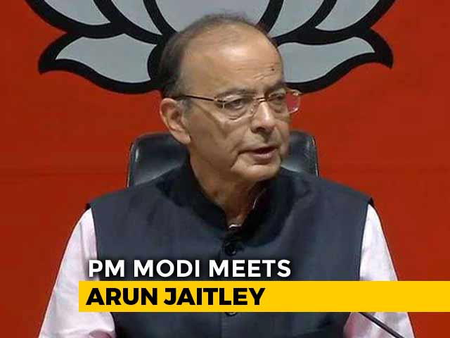 Video : PM Modi Visits Arun Jaitley Who Wants To Opt Out Of Government