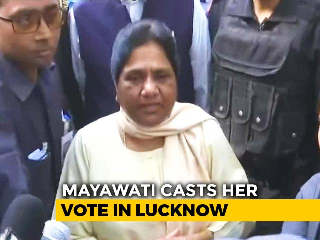 """Video : """"Use Your Voting Right Wisely,"""" Says Mayawati"""