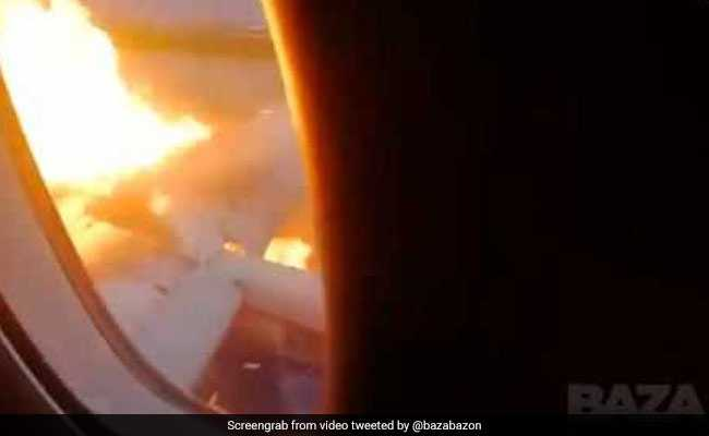 Footage From Inside Burning Plane That Crash-Landed In Moscow