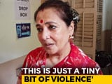 "Video : Moon Moon Sen Does It Again, Says Kolkata Clashes ""Tiny Bit Of Violence"""