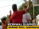 Video : Chief Minister Arvind Kejriwal Slapped During Roadshow In Delhi