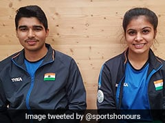 ISSF World Cup: Manu Bhaker, Saurabh Chaudhary Clinch Third Straight Gold In 10M Air Pistol Mixed Team Event