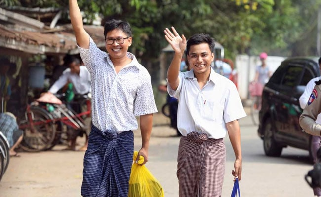 After 500 days in Myanmar jail, 2 Reuters reporters walk free