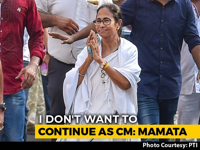 "Video : ""Don't Want To Continue As Chief Minister,"" Says Mamata Banerjee"