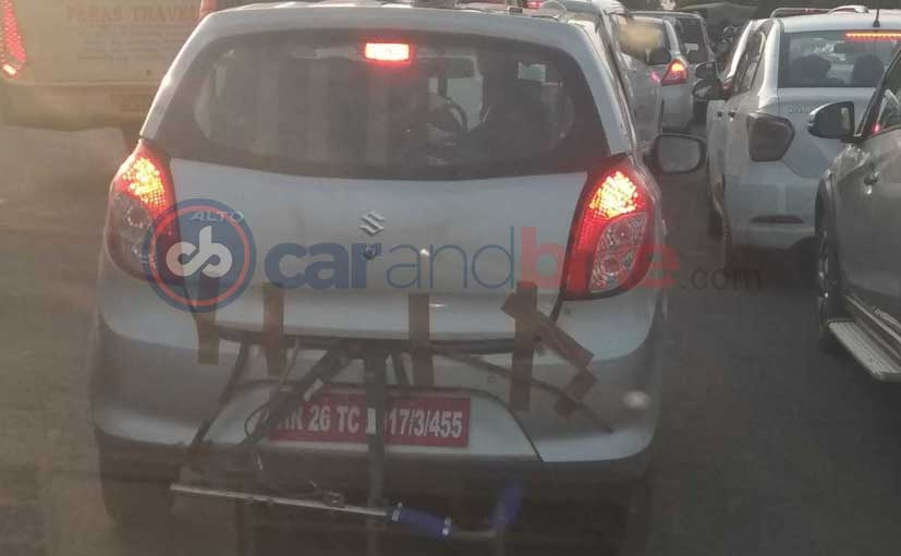 The test mule with the Bharat Stage VI or BS-6 compliant engine is a Maruti Suzuki Alto 800