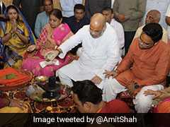 Amit Shah Offers Prayers At Gujarat's Somnath Temple With Family