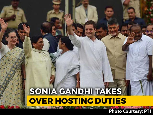 Video: Sonia Gandhi Takes Over Hosting Duties For May 23 Opposition Meet