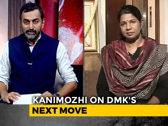 "Video : ""DMK Supported An Ideology, Rahul Gandhi Stood For It"": Kanimozhi"