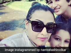 Namrata Shirodkar Posts Pics Of Kids Sitara And Gautham 'Faffing Around' On Holiday