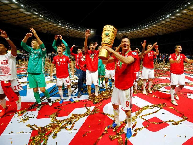 FOOTBALL: Bayern Munich their 19th German Cup victory