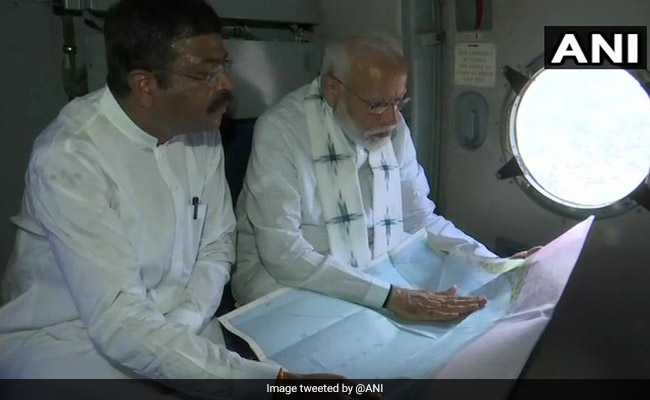 PM Modi Surveys Cyclone Damage In Odisha, Naveen Patnaik With Him