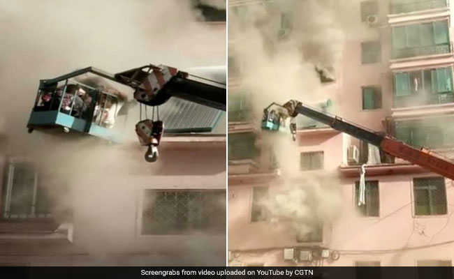 19-Year-Old Uses Crane To Save People Trapped In Burning Building