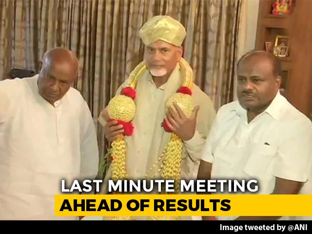 Video : N Chandrababu Naidu Meets HD Deve Gowda, HD Kumaraswamy For Post-Poll Alliance
