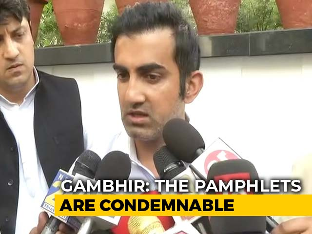 "Video : ""Arvind Kejriwal Stooped So Low..."": Gautam Gambhir's Defamation Threat"