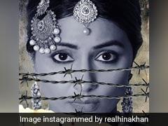 Hina khan की फिल्म लाइन्स का पोस्टर रिलीज, इस अंदाज में दिखीं....देखें Photos