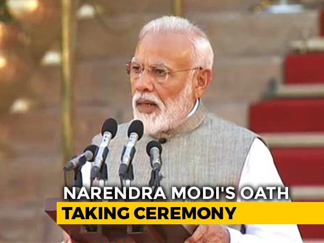Video : Narendra Modi Takes Oath As PM For Second Term