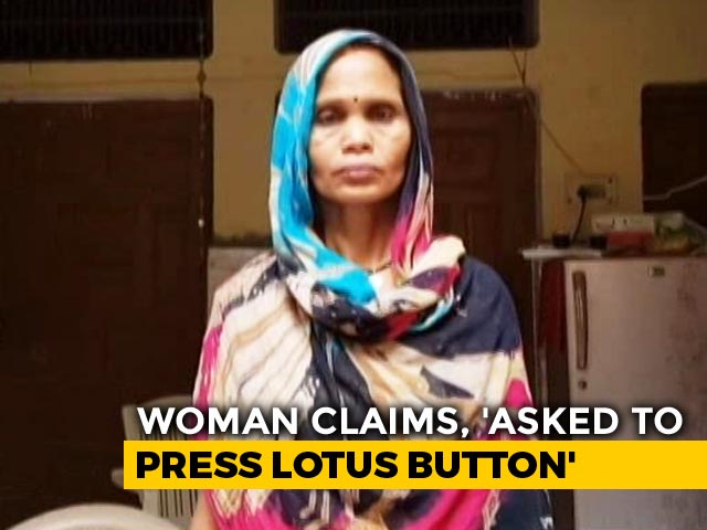 "Video : ""Asked To Pick Lotus"": Faridabad Woman Seen In ""Booth Capture"" Video"