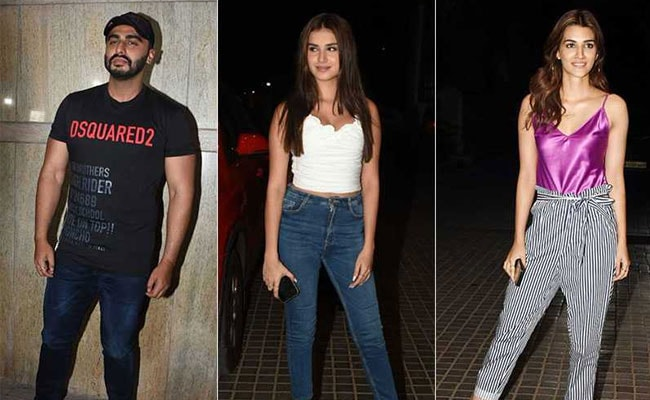 Kriti Sanon And Tara Sutaria Watch Arjun Kapoor's New Film India's Most Wanted. See Pics
