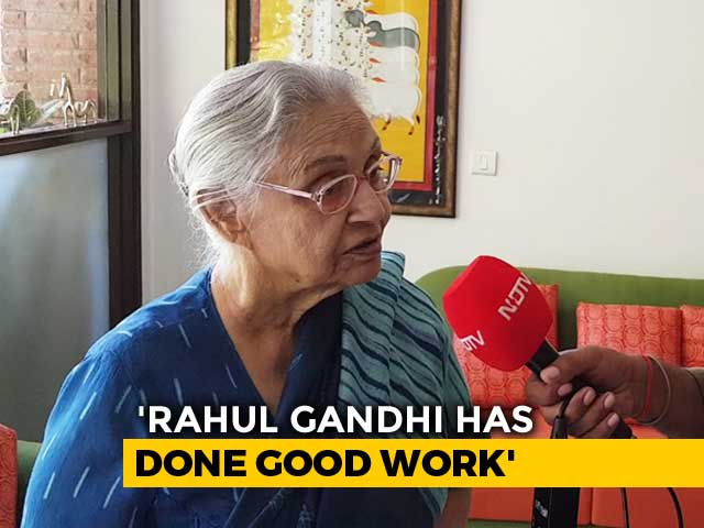 Video : In 'Rahul, Don't Go' Efforts, Sheila Dikshit And Co At His Doorstep Today