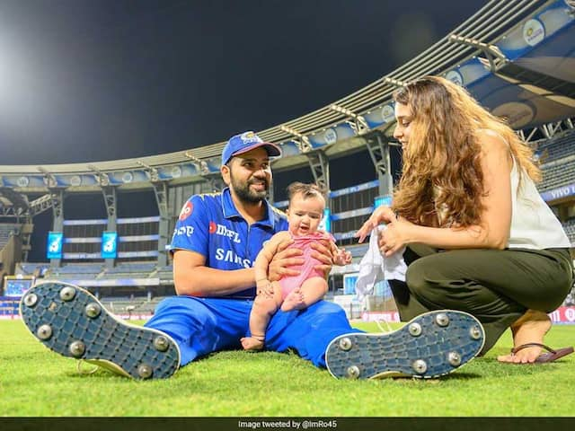 Watch: Rohit Sharma Dedicates Fifty To Daughter Samaira, Spends Time With Her After The Match