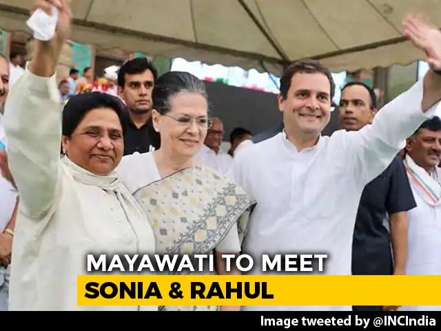 Video : Mayawati To Meet Sonia Gandhi, Rahul Gandhi Tomorrow Ahead Of Results