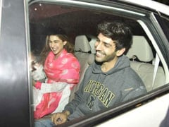 Pics: <i>Love Aaj Kal 2</i> Co-Stars Sara Ali Khan And Kartik Aaryan Chill Post Pack-Up