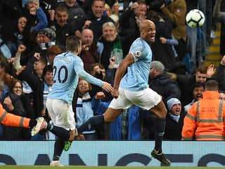 Captain Vincent Kompany Keeps Manchester City On Course For Premier League Title