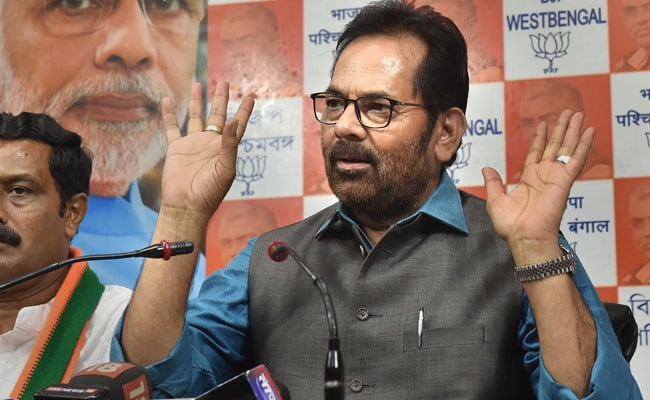 Opposition Putting On 'Horror Show' Over Poll Defeat: Mukhtar Abbas Naqvi