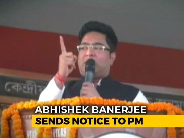 Video : Mamata Banerjee's Nephew Abhishek Banerjee Sends Defamation Notice To PM
