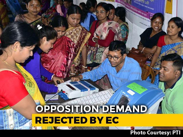 Opposition Demand On VVPATs Rejected By Election Body Day Before Counting