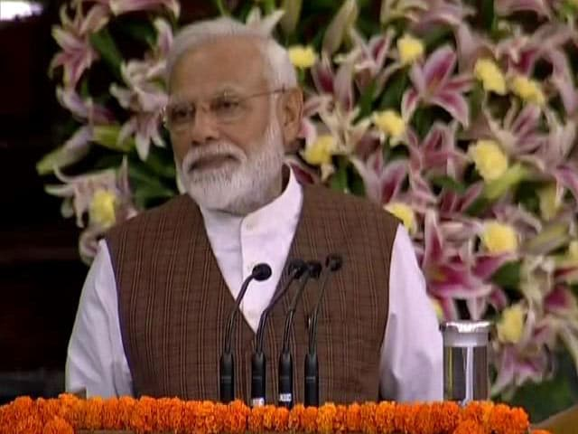 """Video : PM Modi Elected NDA Leader, Says """"People Voted For Pro-Incumbency"""""""