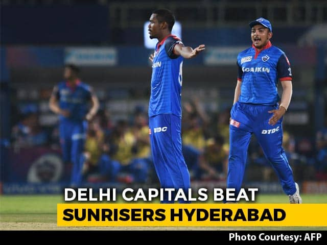 IPL 2019 Eliminator: Delhi Capitals Beat SunRisers Hyderabad In Thriller
