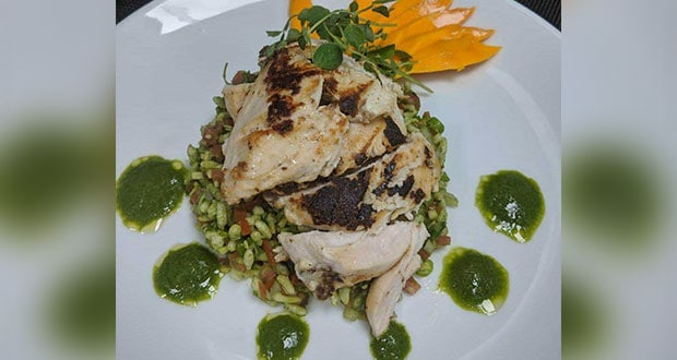 Malai Murgh With Mint Chutney & Raw Mango Bhel