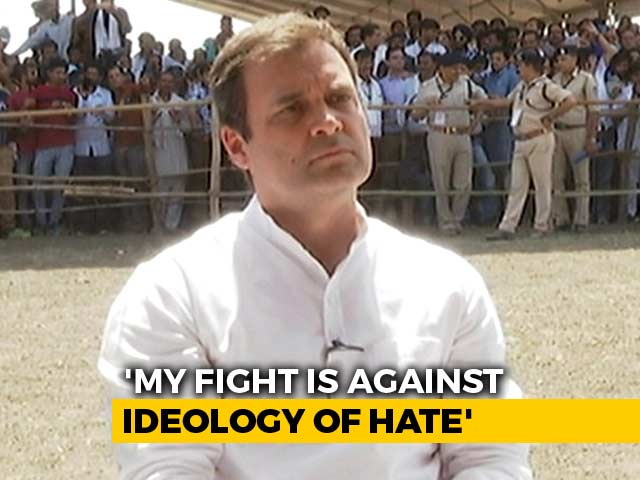 Video : My Fight Is Against Ideology Of Hate, Rahul Gandhi Tells Ravish Kumar