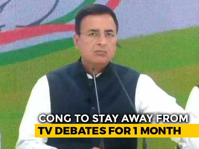Video : No TV Debates For A Month, Says Congress, In Crisis After Poll Defeat