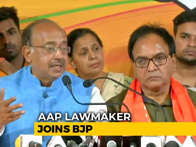 Video : Hours After Arvind Kejriwal's Taunt, AAP Lawmaker Joins BJP