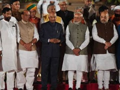 Most Ministers Wear White Kurta-Pyjama, Waistcoat At Swearing-In Ceremony
