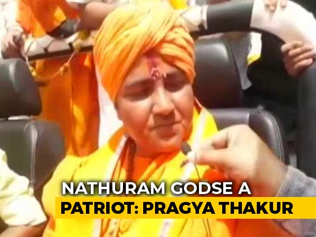 "Video : ""Party Line Is My Line"" Says Pragya Thakur After Calling Godse ""Patriot"""