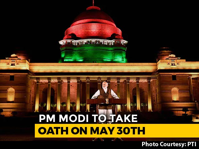 "Video : PM Modi Renews Push For ""Neighbourhood First"" At Second Oath Ceremony"