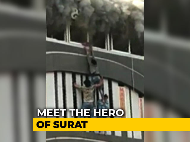 Video : Meet The 23-Year-Old Who Risked His Life To Save Others During Surat Fire